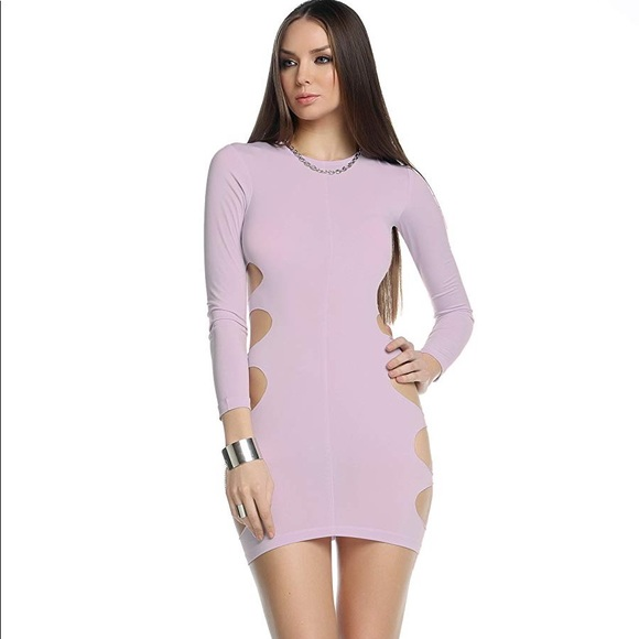 Blvd Collection by Forplay Womens Paige Long Sleeve Bodycon Dress